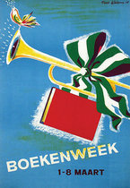 Boekenweek (Dutch Book Week Trumpet, Bird, & Book)