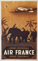 Air France - Afrique Occidentale/Equatoriale (Elephants) 1/4 Sheet
