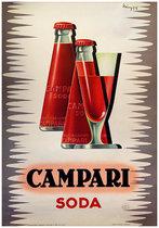 Campari Soda (Bottles and Glass)