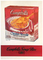 Campbell's Soup Box, 1985 Warhol