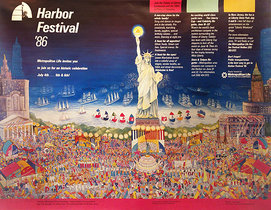 NYC Harbor Festival 1986 (Statue of Liberty/Dark Sky)