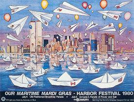 Harbor Festival 1980 - Mardi Gras Paper Ships & Planes