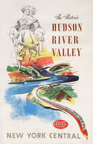 Hudson River Valley  by New York Central Train system