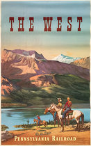The West by  Pennsylvania Railroad (Horseriders)