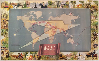 BOAC to All Six Continents (Route Map)