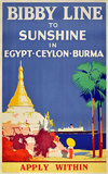 Bibby Line to Sunshine in Egypt Ceylon Burma