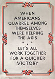 LET'S WORK TOGETHER FOR A QUICKER VICTORY (Think American)