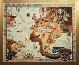 Panair Map (Gold)