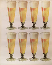 Beer 8 Glasses  -  American Die Cut