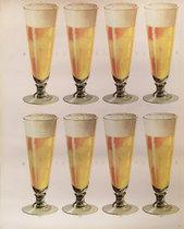 American Die Cut- Beer 8 Glasses