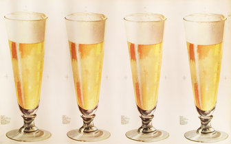 Beer 4 Glasses - American Die Cut
