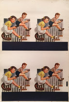 American Die Cut Kids on Banister
