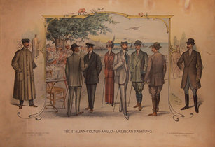The Italian French Anglo American Fashions (Mostly Men)
