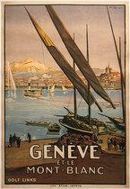 Geneve et Le Mont Blanc