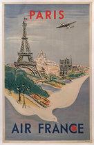 Air France Paris (Dove/ Fair Condition)