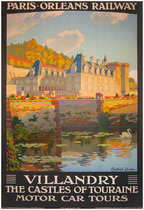 Paris Orleans Railway Villandry The Castles of Touraine