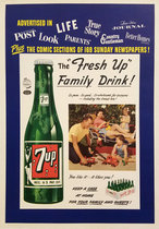7 Up The Fresh Up Family Drink (Blue Border)