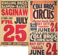 Ringling Bros Barnum & Bailey & Cole Bros Circus (LOT OF 2 POSTERS)