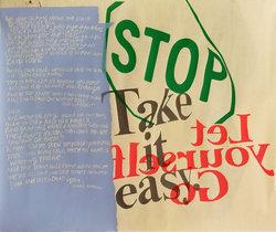 Corita Kent- Stop Take it Easy (Silkscreen)