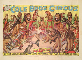 Cole Bros Circus Allen King Roaring Man