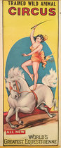 Trained Wild Animal Circus World's Greatest Equestrienne