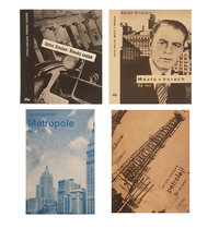 Set of 4 Upton Sinclair book covers