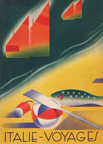 Italie Voyages (Magazine Cover, Beach, Fish, and Sailboats)
