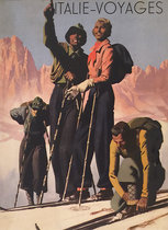 Italie Voyages (Magazine Cover, Alpine Skiers)