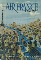 Air France Revue (In Flight Magazine Cover, Sienne River Overhead)