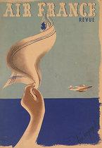 Air France Revue (In Flight Magazine Cover, Bon Voyage!)