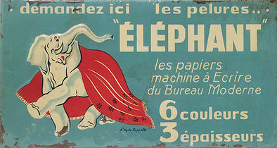Elephant (Tin Sign)