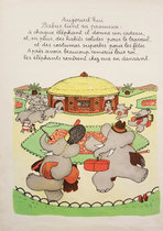 Babar Book Page Illustration - Costumes