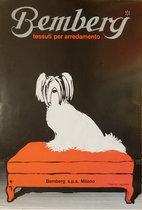 Magazine Ad- Bemberg (Puppy on ottoman)