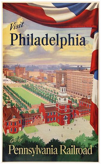 Pennsylvania Railroad Visit Philadelphia (Independence Hall)