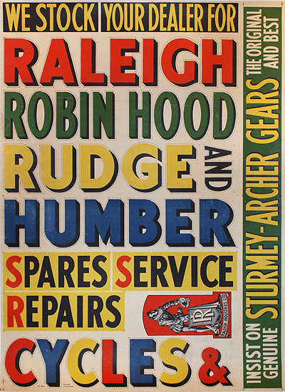 Raleigh Cycles (Text Only)