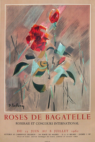 Roses de Bagatelle 1962 (Tan Background Lelong)