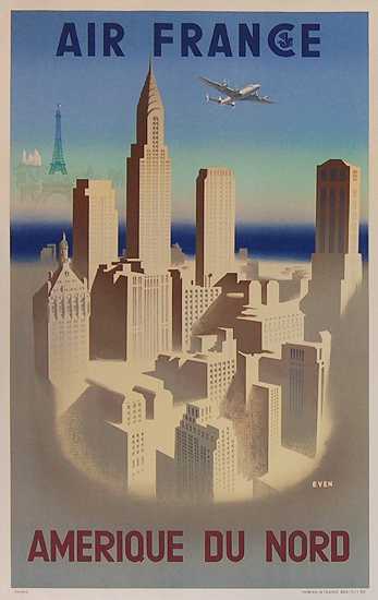 Air France - Amerique Du Nord (New York City Skyline)