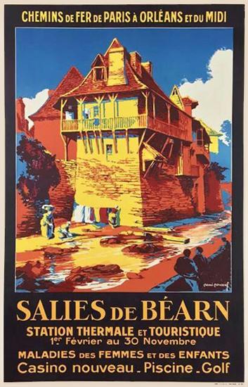 Chemins De Fer De Paris A Orleans et du Midi Salies de Bearn