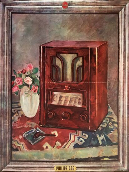 Philips Radio (Trompe Loie Painting)