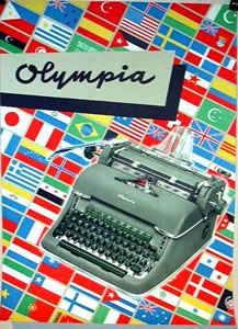 Olympia Typewriter - Flags