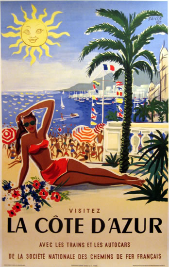La Cote d'Azur (Herve Baille/ French Text)
