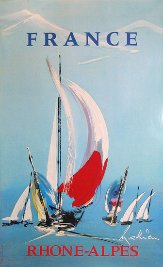 Rhone Alpes France (Sailboats)