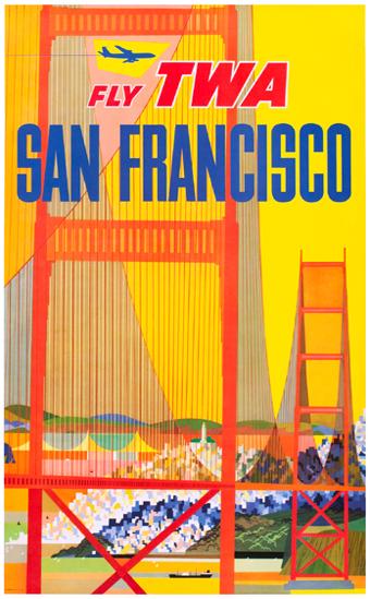 TWA San Francisco Golden Gate Bridge