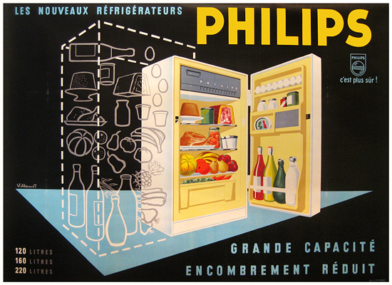 Philips Fridge Horizontal (Black)
