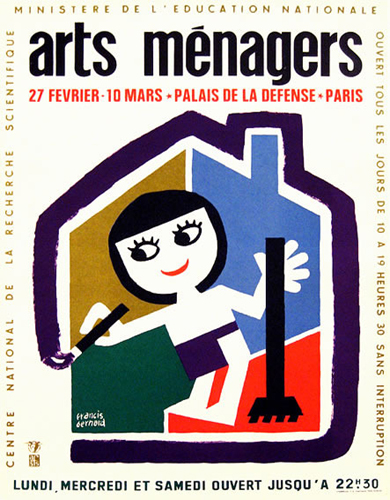 Arts Menagers (Colorful House & Painter/ 15x20)