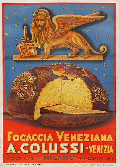 Focaccia A. Colussi Veneziana Venezia