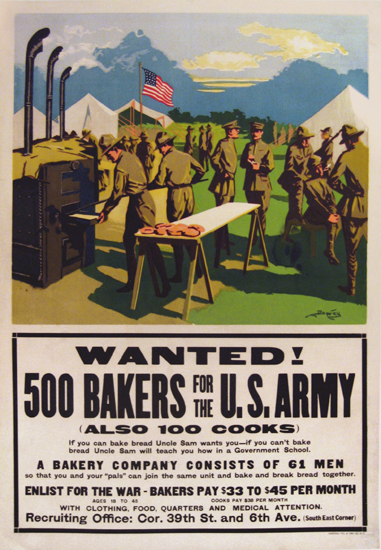 US Army - 500 Bakers Wanted