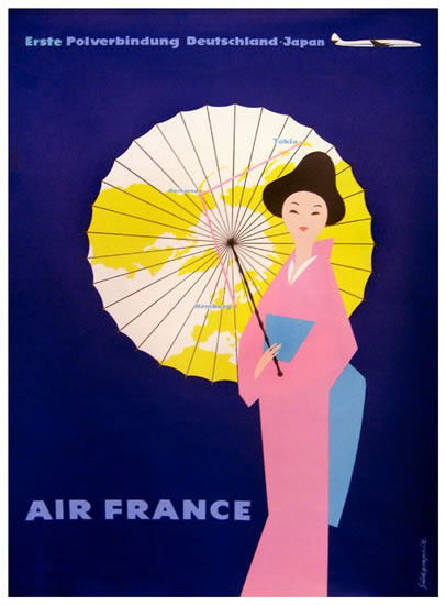 Air France - Germany to Japan