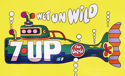 7 Up Wet UN Wild Yellow Submarine