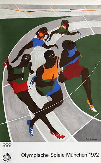 Olympische Spiele Munchen 1972/ Munich Olympics - Runners